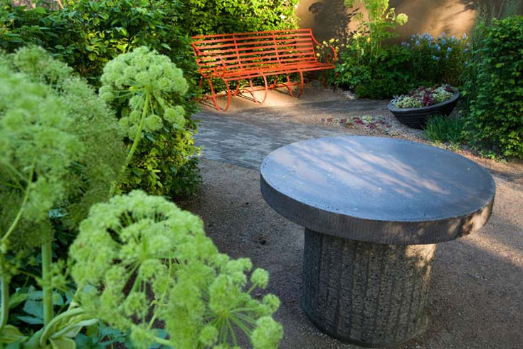 Cleve West, Garden Designer, Landscape Design, Award Winning, Bupa Garden, Les Botta, concrete table