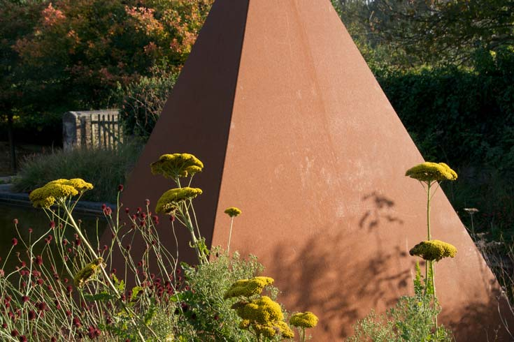 Cleve West, Landscape Design, Garden Designer, Award Winning, Steel Sculpture, Pyramids