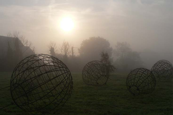 Cleve West, Landscape Design, Garden Designer, Award Winning, Steel Sculpture, Pyramids, Normandy